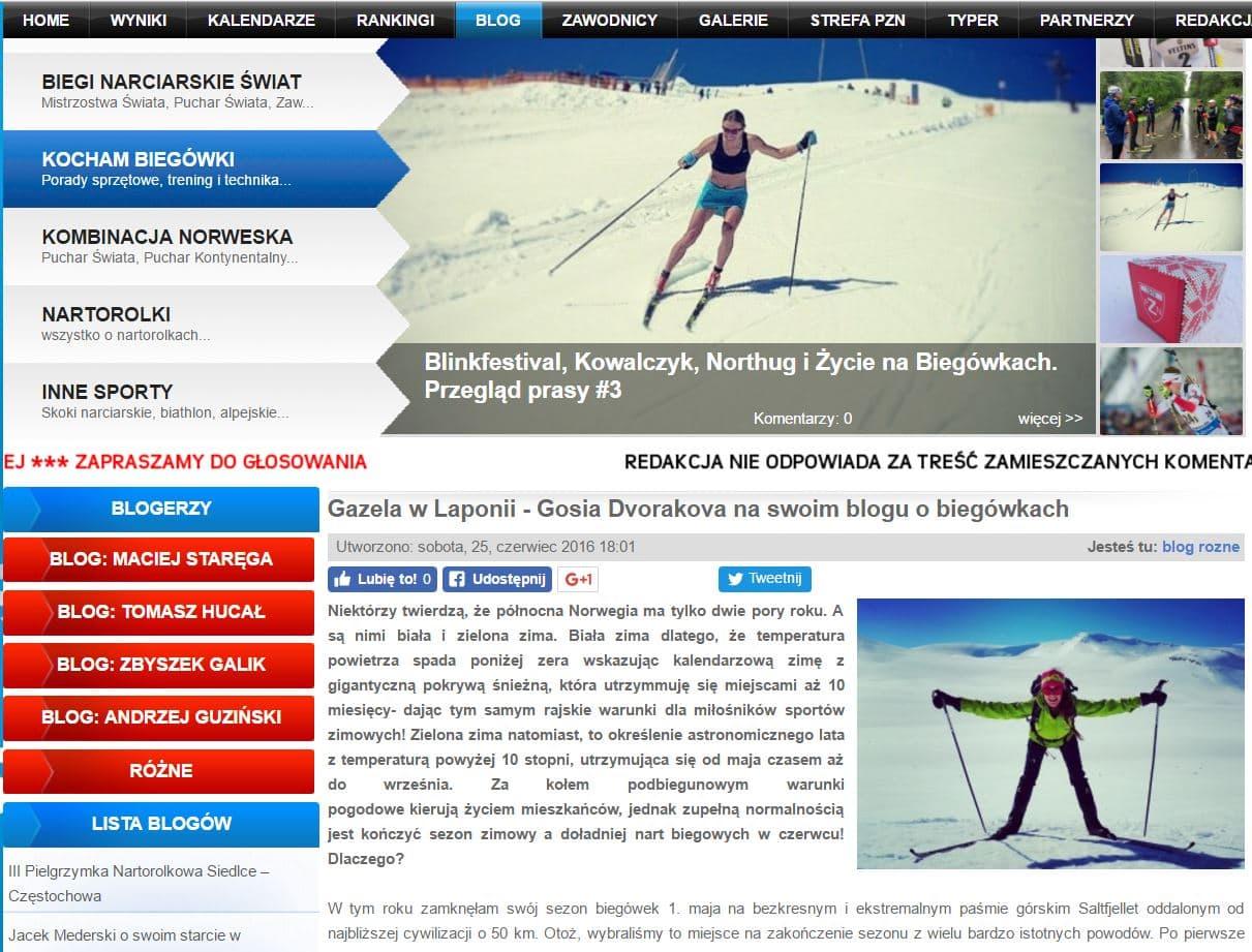 Skipol.pl – Gazela w Laponii o biegówkach!