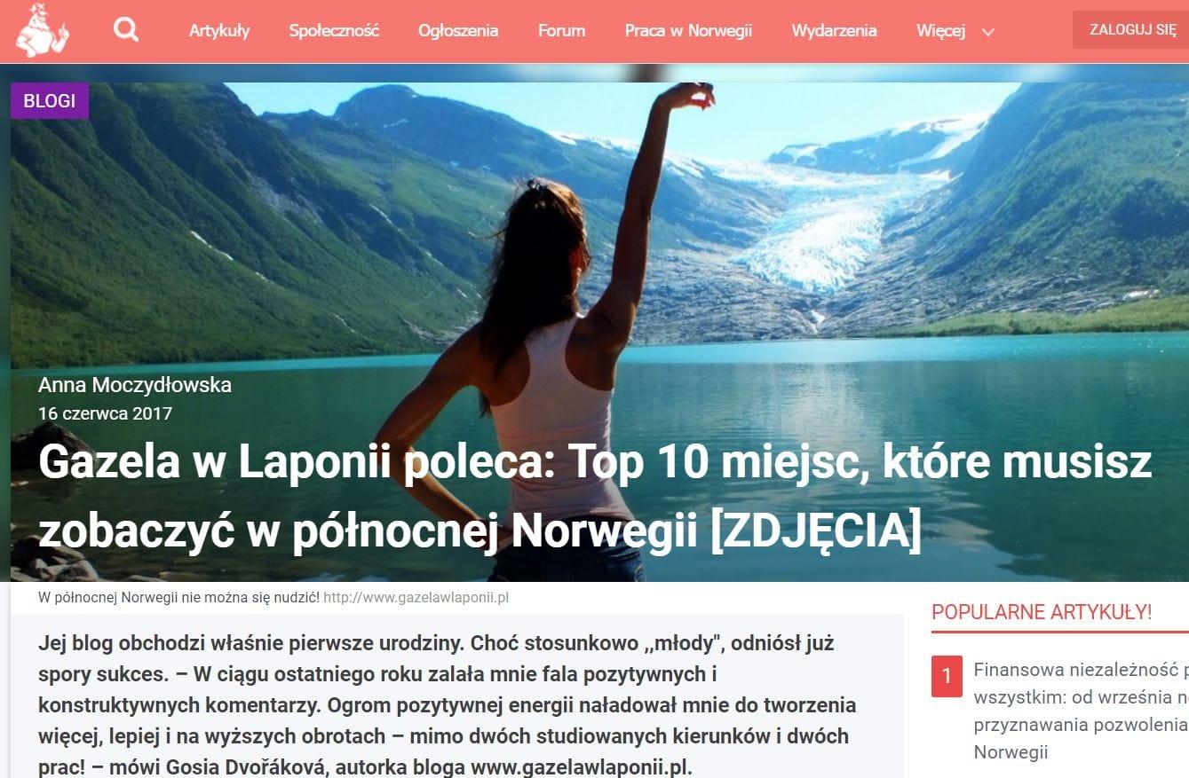 Gazela w Laponii poleca: